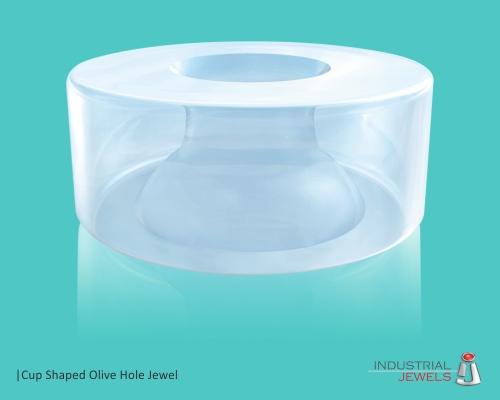 Cup Shaped Olive Hole Jewel