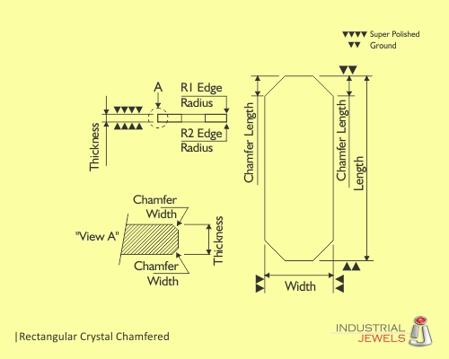 Rectangular Crystal Chamfered technical details
